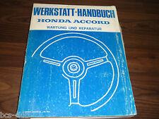 #H141 HONDA ACCORD 1981-1985 2.Generation UMFASSENDES WERKSTATT HANDBUCH 64SA500