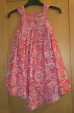 GIRLS AGE 3-4 YEARS PINK  / WHITE FLORAL SEQUIN DRESS