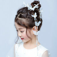 2/4Pcs Kids Chinese Butterfly Long Tassel Hairpin Hairpin Hair Clip Nov