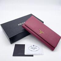 Prada Women's Wallet 1MH132 Vitello Move Ibisco