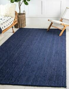 handmade jute rugs navy blue jute rugs working place jute rugs Kilim jute rugs
