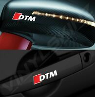 4x Audi DTM Logo Premium Cast Door Handle / Mirror Decals Stickers Kit Quattro