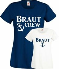 JGA T-Shirt Anker Maritim Braut Crew Burgund Gold Junggesellinenabschied Trend
