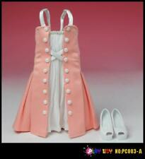 Play Toy 'Fit & Flare Dress Set (Pink) for 1:6 scale female figures PL-PC003A