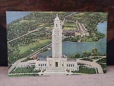 Vintage Linen Postcard Louisiana State Capitol Baton Rouge