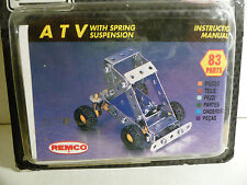 "Brand New Remco ""STEEL TEC"" (Meccano Like) Construction Set - A.T.V. 83-Pieces."