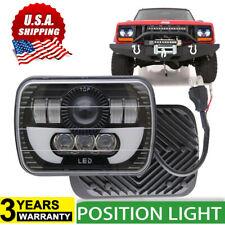 7x6 5X7 120W LED Headlight Halo DRL For 86-95 Jeep Wrangler YJ 84-01 Cherokee XJ