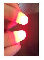 1 GHOST LIGHT JR SINGLE Junior Finger Magician Trick RED LED Toy Lite Thumb Tip