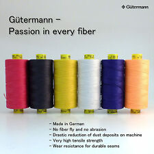 Gutermann 100% POLYESTER Mara 30 Thread Assorted 6 Spools CHOOSE YOUR OWN COLOR