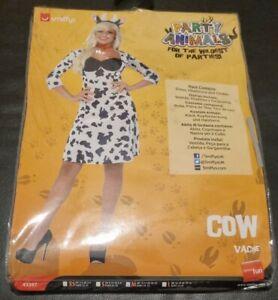 Smiffy's Ladies Party Animals Cow Costume - Size Medium 12-14