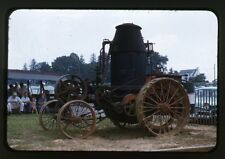 Farm Steam Traction Engine Tractor - c1960s - Original 35mm Slide