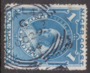 "NIGER COAST PROTECTORATE Squared Circle  POSTMARK / CANCEL  ""OLD CALABAR""   1894"