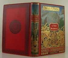 JULES VERNE L'Ile Mysterieuse HETZEL COLLECTION 1891