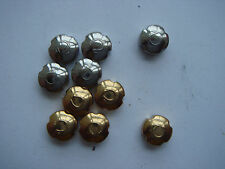 Gf, 5Ss total 10 pieces big size Nice Omega crowns Nos for Sea master type 5
