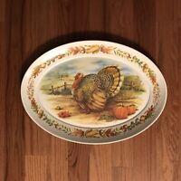 Brookpark Turkey Platter Autumn Melamine 1521 Large Tray