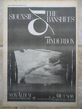 "SIOUXSIE & THE BANSHEES - TINDERBOX, B&W, N.M.E. ADVERT POSTER, 11.5"" X 16.5"""