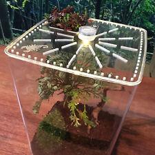 Acrylic Reptile Terrarium Gecko Lizard Spider Vivarium Pet Cage Tank House New