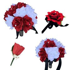 USA Seller -  Apple Red, White, and Black Wedding Package