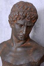 Sculpture de Jardin Style Antique Buste D' Homme Baroque Figure Statuette Tête