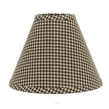 12 inch Black Check Lamp Shade Home Collection by Raghu Newbury Gingham Cotton
