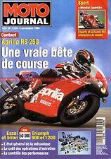 MOTO JOURNAL 1155 Road Test APRILIA RS 250 TRIUMPH 900 Trident 1200 Trophy KTM