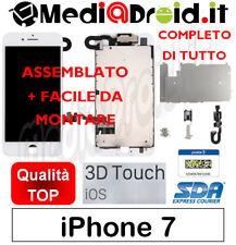 APPLE IPHONE 7 BIANCO VETRO DISPLAY LCD SCHERMO COMPLETO + ASSEMBLATO ORIGINAL