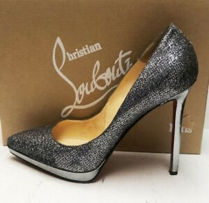 Christian Louboutin Pigalle Plato 120 Lady Glitter Heels Pumps Shoes 41