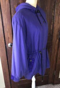VTG Skea Paris Vail Women's Coat Purple Hooded Ski Jacket SZ 10 U.S.A.