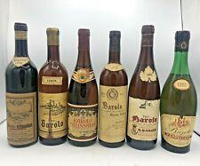 Barolo 1958 1966 1968 1969  1974   Produttori  Vari  Vini Spogliati 6 Bt