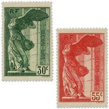 FRANCE N°354 ET 355 VICTOIRE DE SAMOTHRACE, TIMBRES NEUFS**/*1937