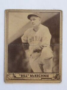 1940 Play Ball Baseball Cards - #153 Bill McKechnie (HOF)