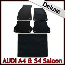 Audi A4 Saloon B6 2001-2006 Tailored LUXURY 1300g Carpet Car and Boot Mats BLACK