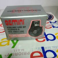 Gemini Auxiliary Lens Set Telephoto & Wide Angle Lens For Disc Cameras M850GP