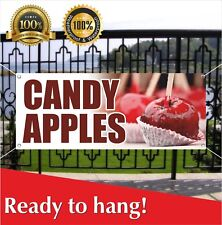 Candy Apples Banner Vinyl / Mesh Banner Sign Farmers Market Carnival Fair Food