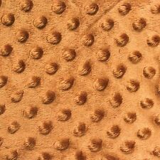 """Copper Minky Dot Cuddle Fabric - Sold By The Yard - 58""""/ 60"""""""