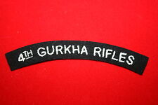BRITISH ARMY 4TH GURKHA RIFLES CLOTH SHOULDER TITLE NEPAL #1