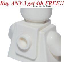 ☀️NEW WHITE MINIFIG NECK BRACKET Package Holder Back Plate w/Stud-Knob