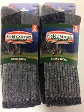 4 Pair Men's Size Large Field & Stream Merino Wool Black Crew Sock *MADE in USA*