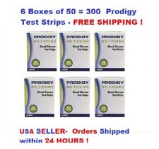 300 PRODIGY NO CODING BLOOD GLUCOSE TEST STRIPS EXP 2019+FREE S&H