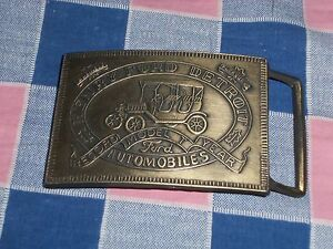 s1. Belt Buckle Henry Ford Detroit Automobiles Record Model T Year