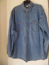 Levis Vtg.Red Tab Denim Shirt LS Button Front Size Mens L