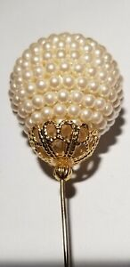 Colossal Vintage Faux Pearl Stick/Hat Pin