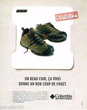 PUBLICITE ADVERTISING 085  2005  COLUMBIA SPORTWEAR COMPANY chaussures MORPHEUS