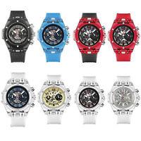 KIMSDUN Reloj de Cuarzo Reloj de Pulsera Impermeable Para Pareja Hombres Mujeres