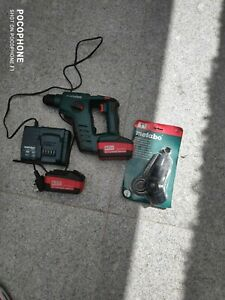 METABO BHA 18 LT +2X4.0AH +CHARGER +EXTRACTION ADAPTER