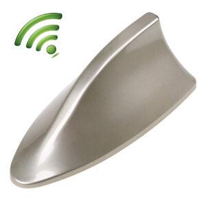 Car Roof Shark Fin Antenna AM/FM Radio Signal Aerial Golden Universal Fit BMW