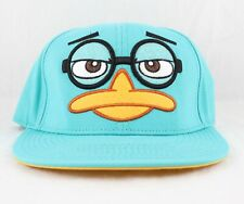 Phineas And Ferb Hat Snapback Cap Perry The Platypus Adjustable Teal