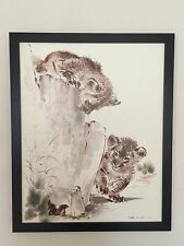 Ralph Thompson, 20''x16'' frame, framed Lion Cubs, Lion posters