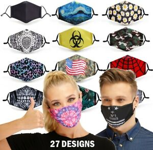 Reusable Face Mask Including Filter Fashion Mask Protective Mouth Face Cover UK