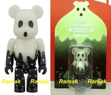 Medicom Be@rbrick 2015 Happy Halloween 100% TRICK or TREAT GID Green Bearbrick